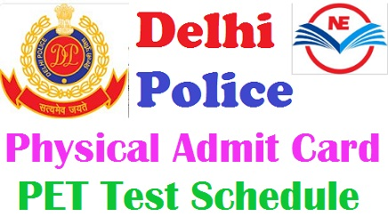 Delhi Police Constable Physical Admit Card 2021