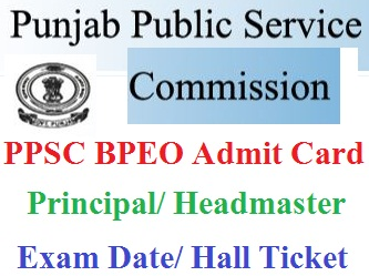 PPSC BPEO Admit Card 2020