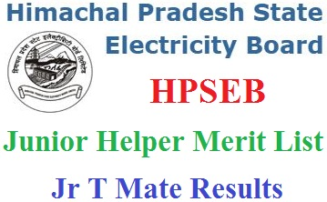 HPSEB Junior Helper Merit List 2020