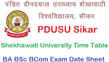 Shekhawati University Time Table 2021