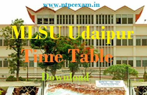 MLSU Exam Time Table 2021