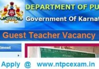Karnataka Guest Teacher Vacancy 2021