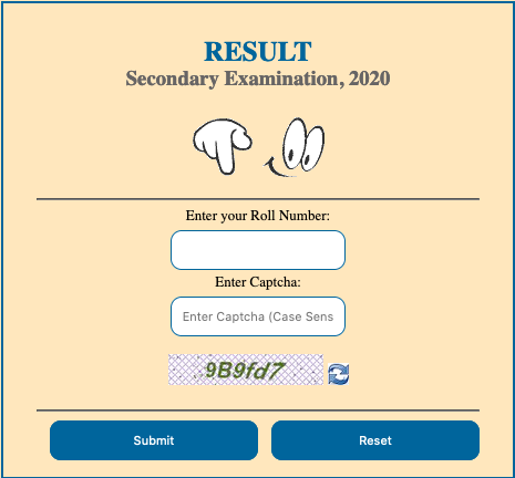 Rajasthan RBSE 10th Class Result 2021 Name Wise